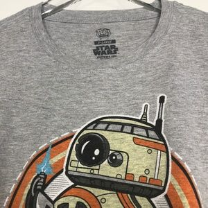 Star Wars Shirts - Star Wars BB-8 Speedy Delivery Gray Tee A030489